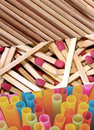 Distribuidores de palillos pajitas y fósforos