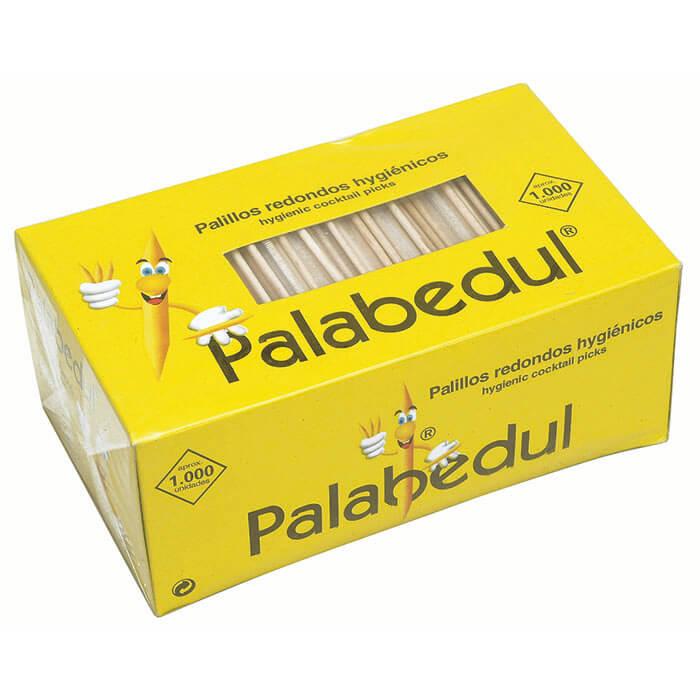 caja de palillos redondos celofan